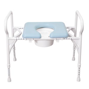 Picture of Over Toilet Frame bariatric With Splash Guard height adjustable